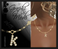 Moury - Necklace Gold Letter K / Collier Or lettre K