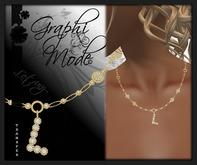 Moury - Necklace Gold Letter L / Collier Or lettre L