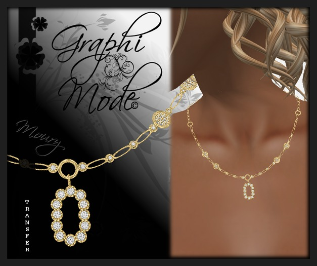 Moury - Necklace Gold Letter O / Collier Or lettre O