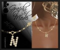 Moury - Necklace Gold Letter N / Collier Or lettre N