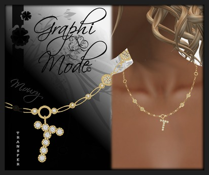 Moury - Necklace Gold Letter T / Collier Or lettre T