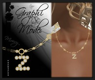 Moury - Necklace Gold Letter Z / Collier Or lettre Z