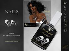 FingerNail - Nails + Bangles Black-White / Verni + Bangles Noir-Blanc - Babelle