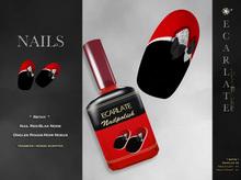 FingerNail - Nails Red-Blak Node / Ongles Rouge-Noir Noeux - Rethy