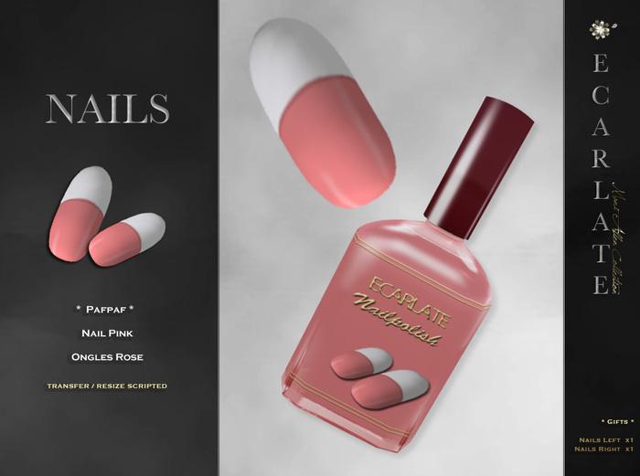 FingerNail - Nails Pink / Ongles Rose - Pafpaf