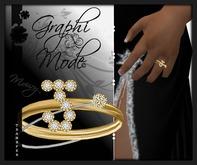 Mouri - Ring Gold Letter J / Bague Or lettre J