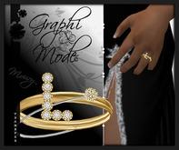 Mouri - Ring Gold Letter L / Bague Or lettre L