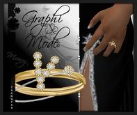 Mouri - Ring Gold Letter Y / Bague Or lettre Y