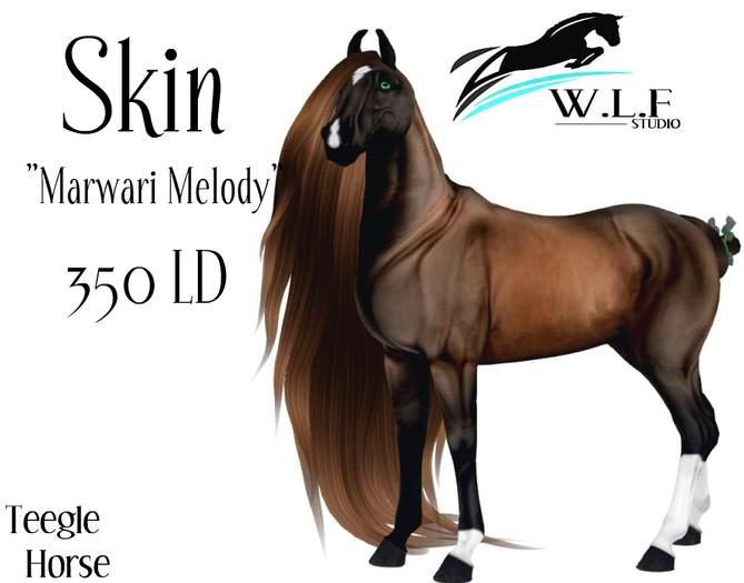 """◄◄ W.L.F ►► Skin for Teegle Horse """"Marwari Melody"""""""