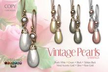 EarthStones Vintage Pearls - Earrings Fatpack