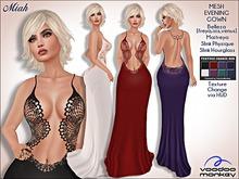 Miah - Mesh Evening Dress w/Back Jewelry ::VoodooMonkey::