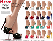"""DEMO N-core Patent MULES """"All Colors"""""""