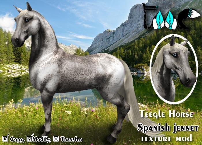[FMC] Teegle Horse mod - Spanish jennet