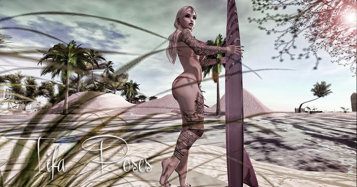 Tifa Poses - beachin