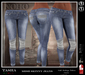 [NOHO] Tasha Skinny Jeans [fitmesh box] blue lace