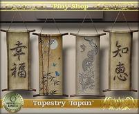"""Tapestry """"Japan"""" 100% mesh (full perm)."""