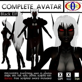 Black Drow Elf - full female furry avatar Avatar - Resell Box -