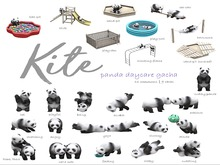 KITE - Panda Daycare - Play-Pool RARE