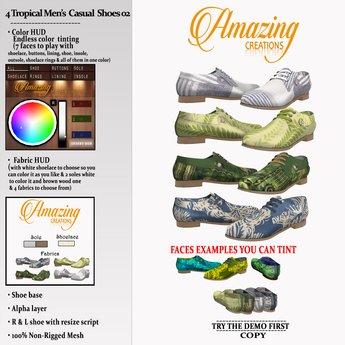 AmAzINg CrEaTiOnS 4 Tropical Mens Casual Shoes 02 (Smart)