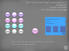 LDG-FULL PERM 126 Pose & Animation HUD /12 textures