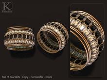 (Kunglers) Maria bracelets - Onyx