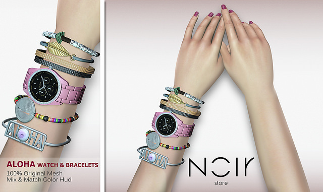 :::NOIR::: Aloha Watch and Bracelets