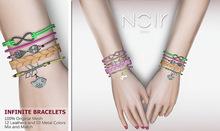 :::NOIR::: Infinite Bracelets