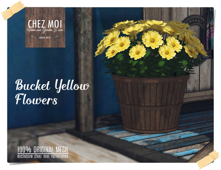 Bucket Yellow Flowers ♥ CHEZ MOI