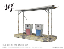 Soy. Old Gas Pumps & Stand [addme]