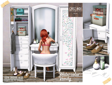 Closet&Vanity Watercolor ♥ CHEZ MOI