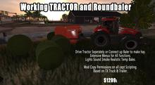 Working Tractor and Baler