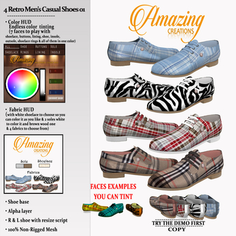 AmAzINg CrEaTiOnS 4 Retro Mens Casual Shoes 01 (smart)