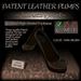 ~JJ~ Patent Leather Pumps (dark brown)