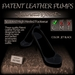 ~JJ~ Patent Leather Pumps (jet black)