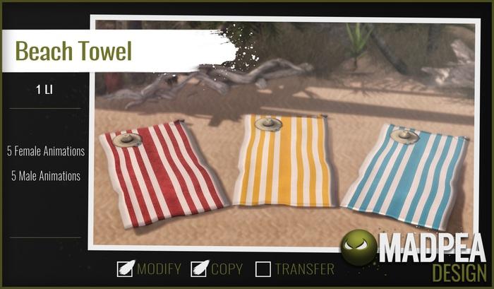 MadPea Beach Towel