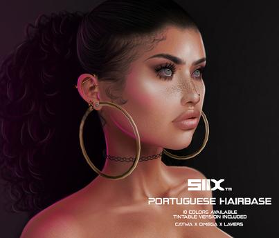 SIIX// Portuguese Hairbase OMEGA - CATWA - TATTOO LAYERS