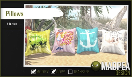 MadPea Summer Pillows