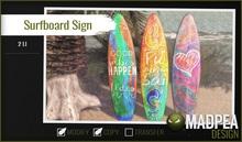 MadPea Surfboard Signs