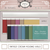 i { DH } Vintage Crown Molding Walls *Simple*