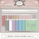 i { DH } Vintage Crown Molding Walls *Simple Light*