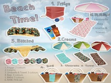 ::Una:: Beach Time Pink Set RARE