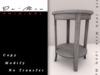 .::De'Mon::. Accent Table - Faded White