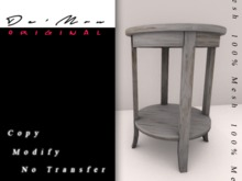 .::De'Mon::. Accent Table - Faded White