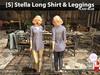 s  stella long shirt   leggings plaid blue pic