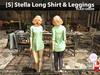 s  stella long shirt   leggings plaid green pic
