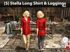 s  stella long shirt   leggings red pic