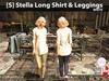 [S] Stella Long Shirt & Leggings White