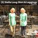 [S] Stella Long Shirt & Leggings Turquoise