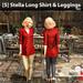 s  stella long shirt   leggings red ad