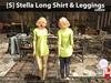 [S] Stella Long Shirt & Leggings Green